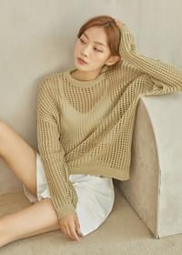 Neo square net knit