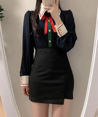 Brooch Set Lowell Color Collar Blouse