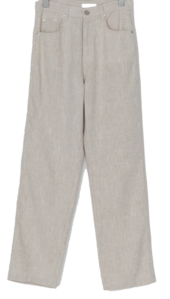 Simple straight linen slacks
