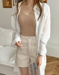 Fall in Cooling Loose Fit Long Shirt shirt