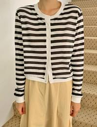 St striped cardigan