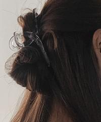 Hand butter transparent hairpin