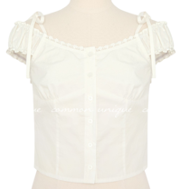 SILIA LACE FRILL OFF SHOULDER BLOUSE