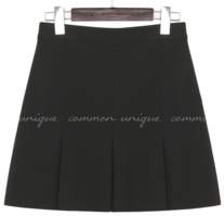 MANO SET-UP HALF PLEATS MINI SKIRT