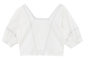 Back banding stitch blouse