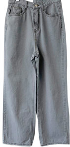 High waist long kite/jin gray wide pants