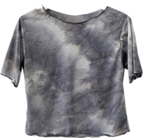 Tie-dye Water Print Crop Wavy Short-sleeved T-shirt