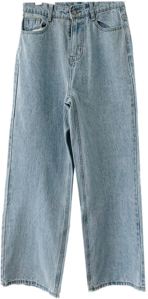 Summer Faded Light Blue Wide Pants