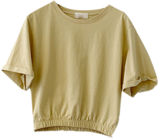 Bread banding cropped short-sleeved T-shirt