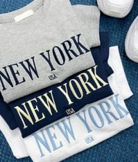 New york embroidery t-shirt