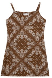 Paisley Pattern Sleeveless Dress