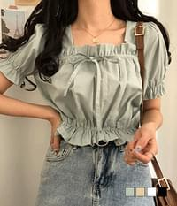 Sonya Ruffled Ribbon Blouse