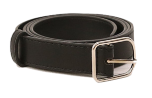 Pleather Rounded Square Buckle Belt