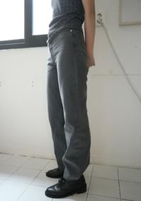 wearable straight fit grey denim
