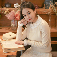 Lovely lace frill knit T#YW475