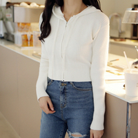 Slim Jean Knit Hooded T#YW479
