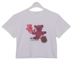 Pink Bear Crop T-shirt