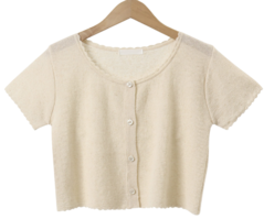 Mercy linen crop cardigan