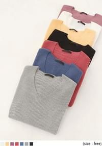 TIAMO SOFT GOLGI V NECK KNIT