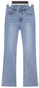 Whisker Washed Bootcut Jeans