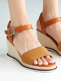 Tail Wedge Slingback Sandals 7cm