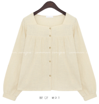 MAY SQUARE NECK BLOUSE