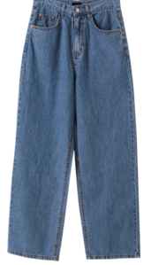 Blue Wide Date Denim Pants