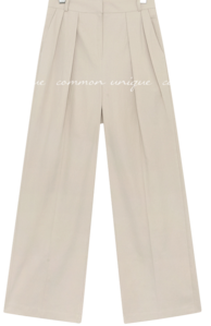 PIPER PINTUCK COTTON WIDE PANTS