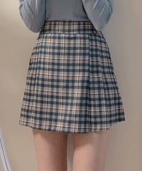 Darby check mini skirt pants