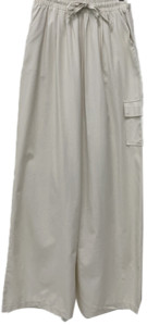 Cotton cargo wide banding pants