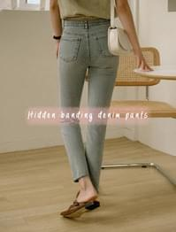 Wearable Hidden Banding light blue Denim Pants