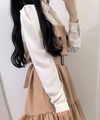 ♥ Belt set Burberry collar dress