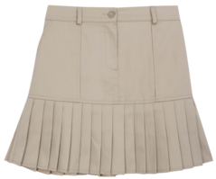 Pleated Hem Mini Skirt