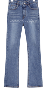 PIN BANDING BOOTS DENIM PANTS