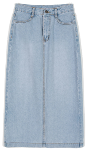 Daily denim midi skirt