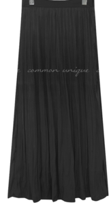 SOAP WRINKLE PLEATS LONG SKIRT