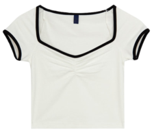 Square Shirring T-shirt