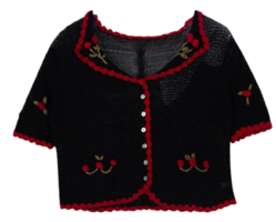 Cherry embroidered cardigan