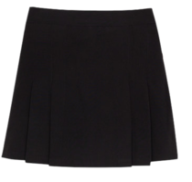 Pleat Accent Mini Skirt