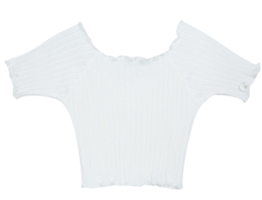 Lettuce Edge Ribbed Crop Top