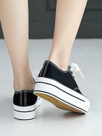 Coveted full-heeled sneakers 3cm