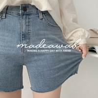 Port Cut Denim Shorts (ver. Secret Banding/3.5 Shorts)