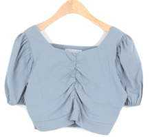 #Any place haze shirring cropped blouse