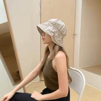 Pleated string bungagee hat 3color