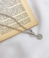 Disc Pendant Toggle Necklace