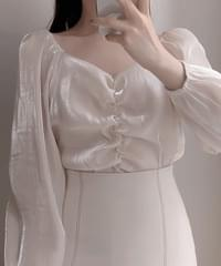 New Discount ♥ Twinkle Shatin Shirring Blouse