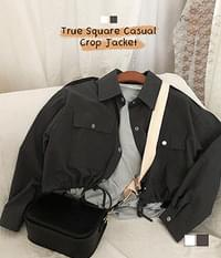 True square cropped jacket
