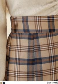 MOLU TARTAN CHECK SLIT LONG SKIRT