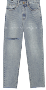Slash Accent Denim Jeans
