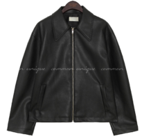 CARVE COLLAR LEATHER JACKET